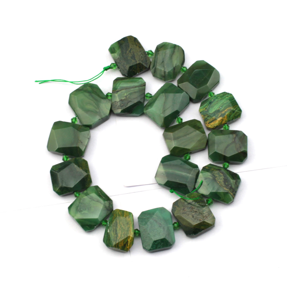 natural african jade stone beads natural stone beads DIY loose beads for jewelry making strand 15