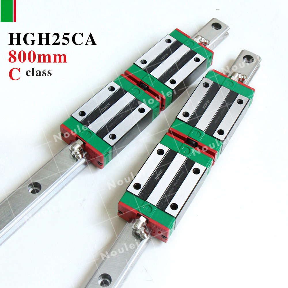 HGH25CA HIWIN linear guide blocks with 25mm rail HGR25 800mm for cnc set High efficiency HGH25 tbi cnc sets tbimotion tr20n 600mm linear guide rail with trh20fl slide blocks stainless steel high efficiency