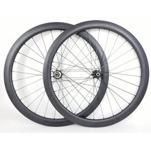 Carbone roues 700c pneu 38mm tubeless 25mm disque CT31Straight tirer serrure centrale moyeux 28 H 1540g vélo roue(China)