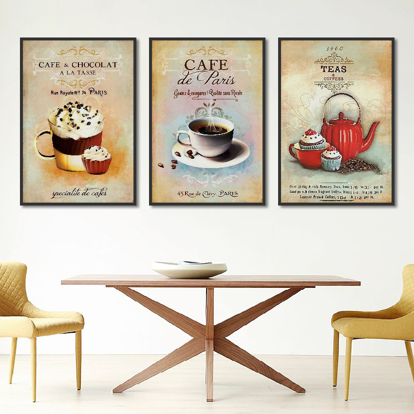 Nordic-Poster-Vintage-Modern-Minimalist-Coffee-Dessert-Canvas-painting-Abstract-Home-Decoration-Kitchen-Wall-Pictures-Unframed