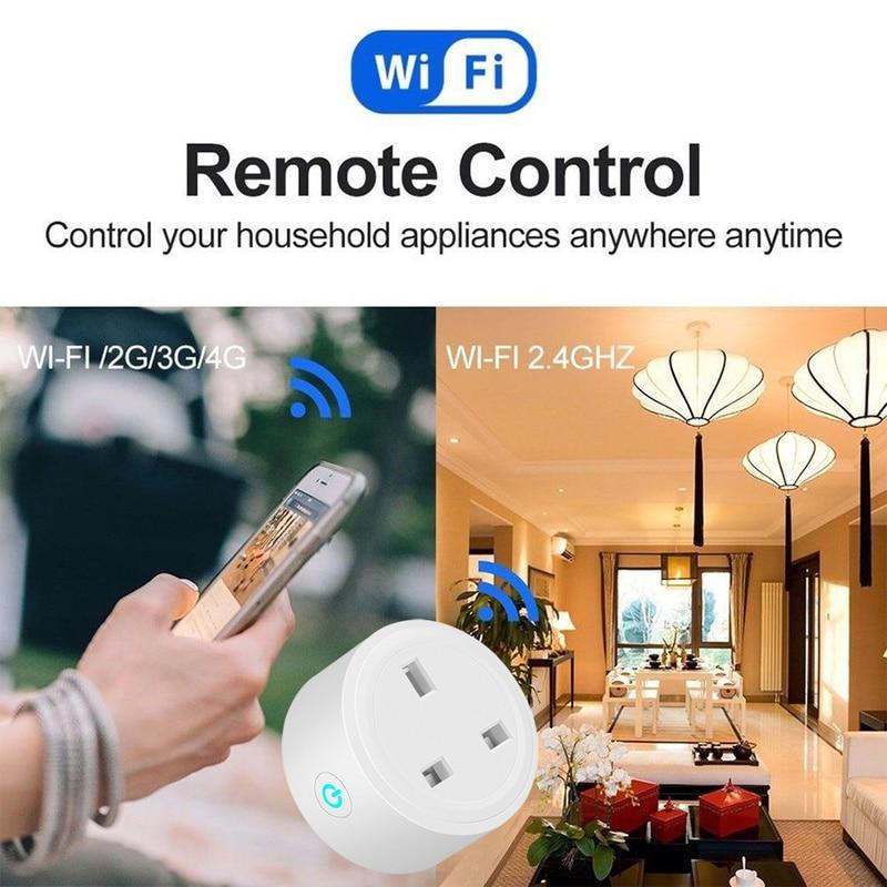 BSD23 Wifi Smart US/EU/UK Plug Car Outlet Remote Control Socket Car Smart Timer Plug Work with for Alexa Google Intelligent