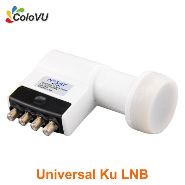 Banda Ku Universal Quad LNB Alta Ganancia de Poco Ruido 0.1db Mejor LNBF de Salida de Señal de Satélite Digital HD 4 venta caliente