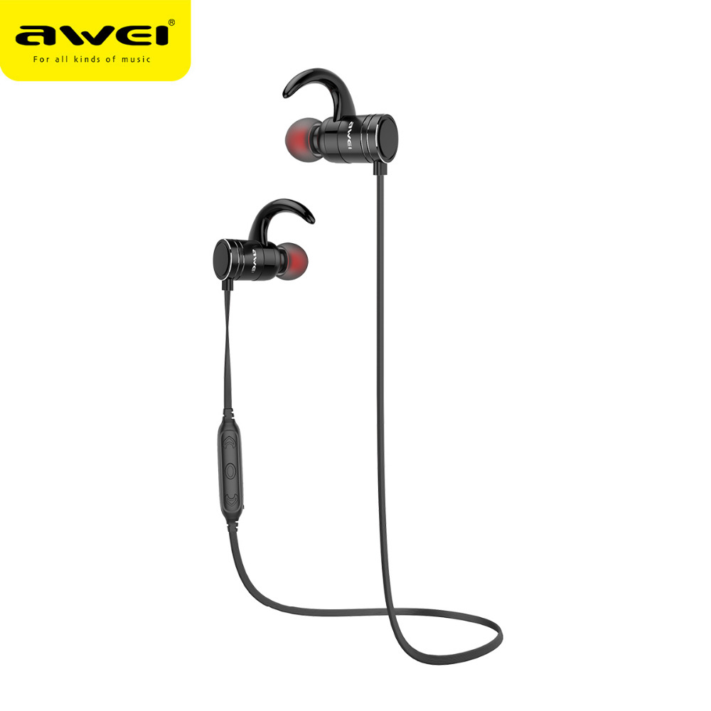 Awei AK7 Sport Wireless Bluetooth Earphone Stereo Earphone With Microphone Sweatproof Bass Headset For Earbuds For iPhone Xiaomi remax bluetooth v4 1 wireless stereo foldable handsfree music earphone for iphone 7 8 samsung galaxy rb 200hb