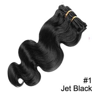 Doreen заколки для волос в полный набор головы 160 г 200 г искусственные волосы одинаковой направленности настоящие натуральные человеческие волосы для наращивания зажим для волос - Color: #1