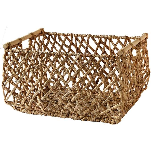 Storage Basket with Wooden Handles Mawgie