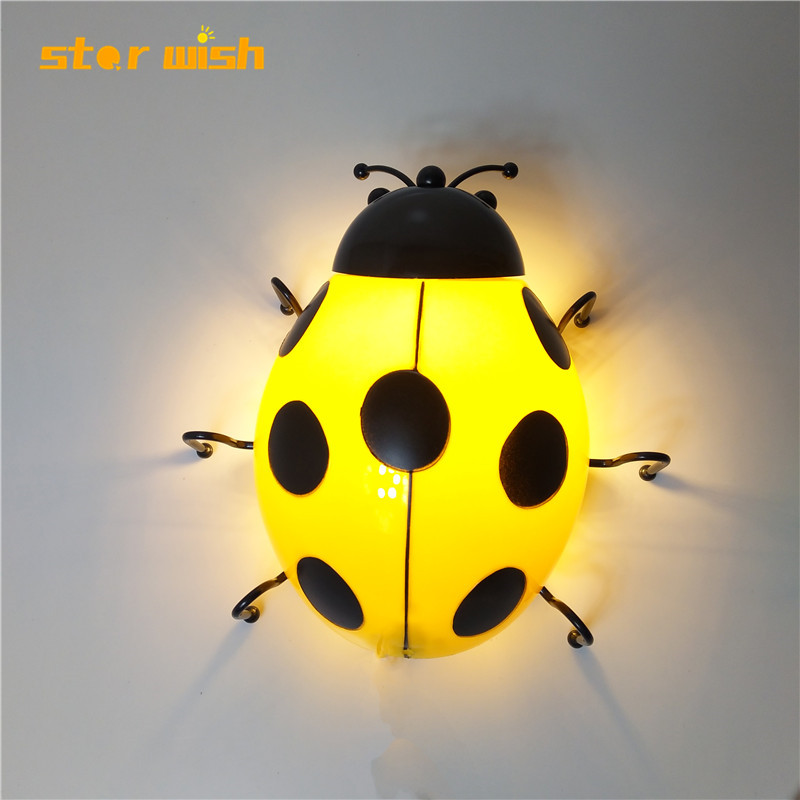 modern Ladybug led beside wall lights decoration wall lamp loft decor wall lamp on the wall