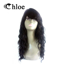 Chloe Brazilian Remy Hair Lace Front Human Hair Wigs Natural Wave Natural Color  For Black Women With Baby Hair TF1190