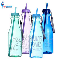 Upspirit 650 ml Water Bottle with Straw and Double Lids PP U