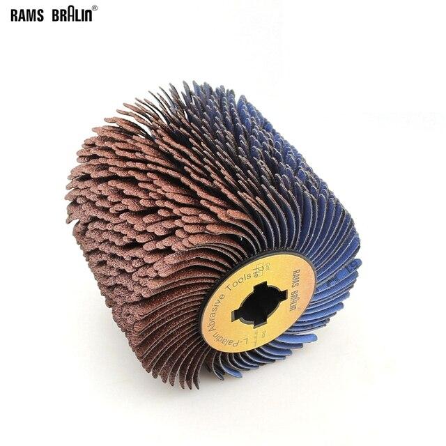 110*100*19 мм + 4 паза наждачная бумага проволока чередование полировочное колесо для деревянной мебели изогнутая Неровная поверхность отделка