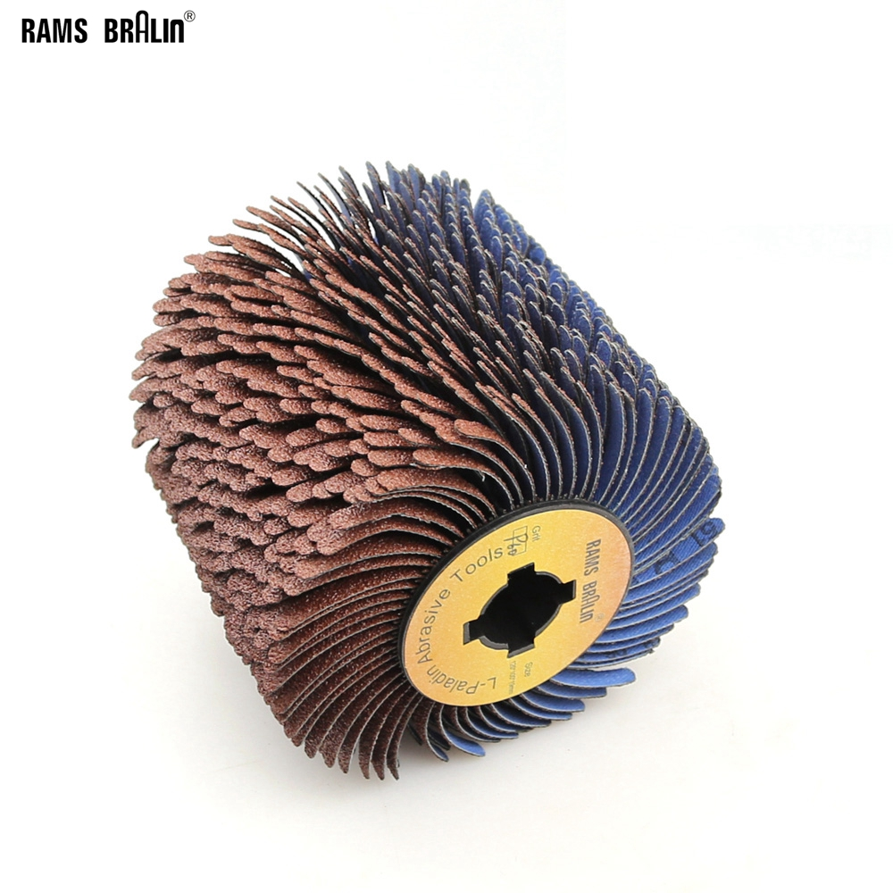 110*100*19mm + 4 Groove Sanding Cloth Wire Striping Polishing Wheel For Wood Furniture Curved Irregular Surface Finish