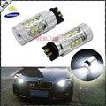 (2) Blanco del xenón Canbus PWY24W PW24W Q3 LED Bombillas Para Audi A3 A4 A5 VW Golf MK7 CC Luces Direccionales Delanteras BMW Serie 3 F30 DRL