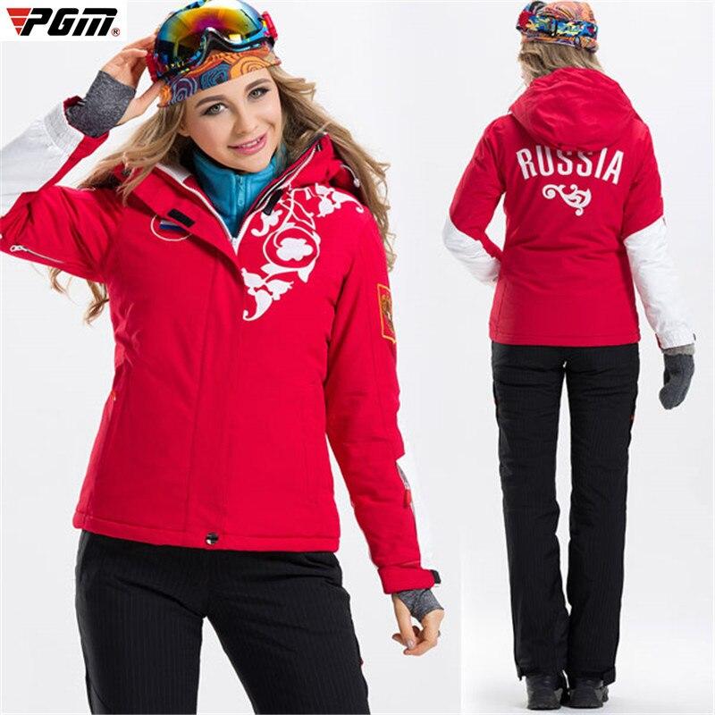 Prix pour 2017 Femmes Hiver Ski Alpinisme Vêtements de Ski-porter Étanche De Protection Épaississement Coton Rembourré Vêtements de Ski Veste