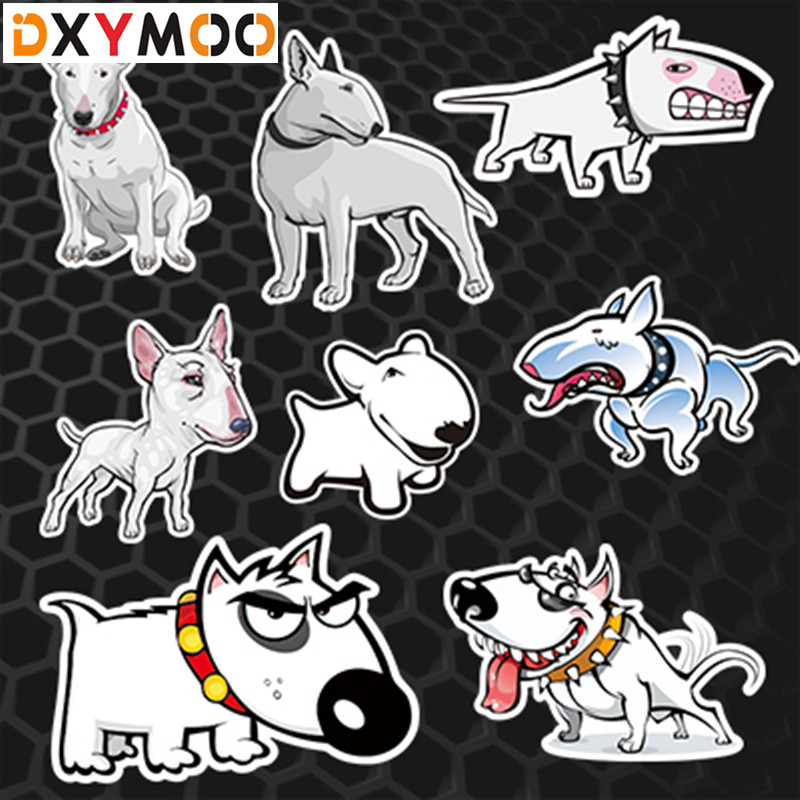 Animal Bulldog Stickers Car Window Family Pet Dog Pitbull Reflective 3M Stickers