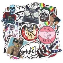 100 stks gemengde laptop bagage bike motorcycle auto stickers en stickers skateboard rossi sticker bom auto styling atv sticker moto