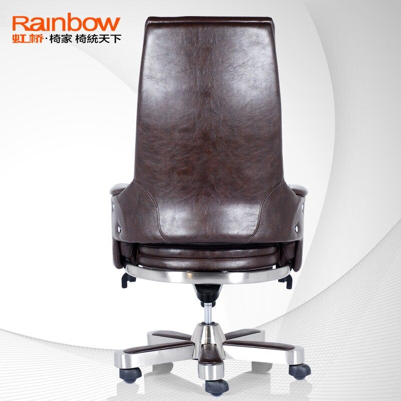 Hongqiao genuina del cuero de lujo marco de acero sillas giratorias ...