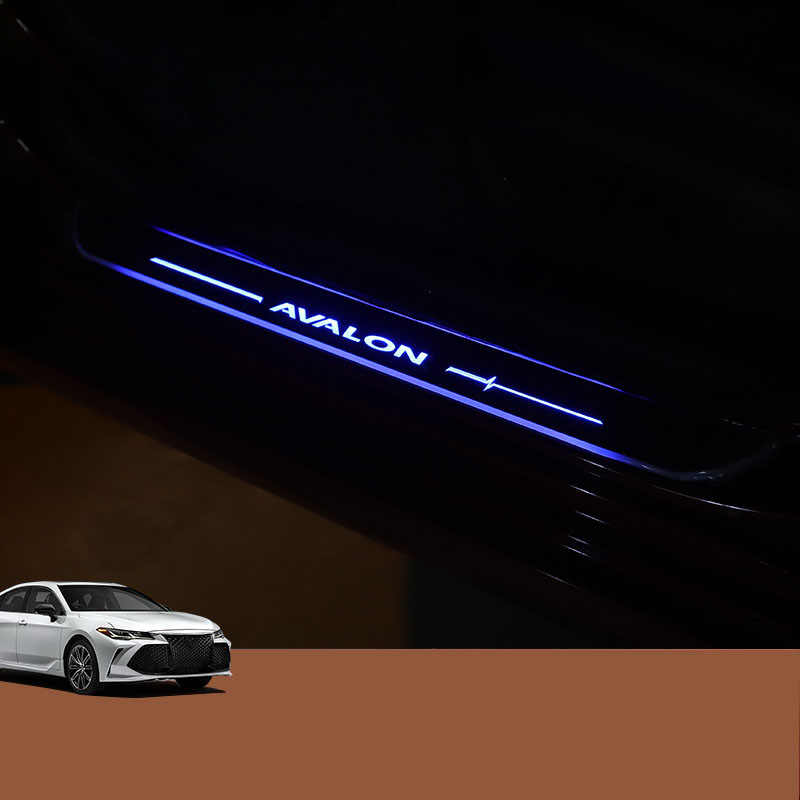 LED streamer welcome pedal atmosphere light conversion special car Threshold strip For Toyota AVALON 2019 2020
