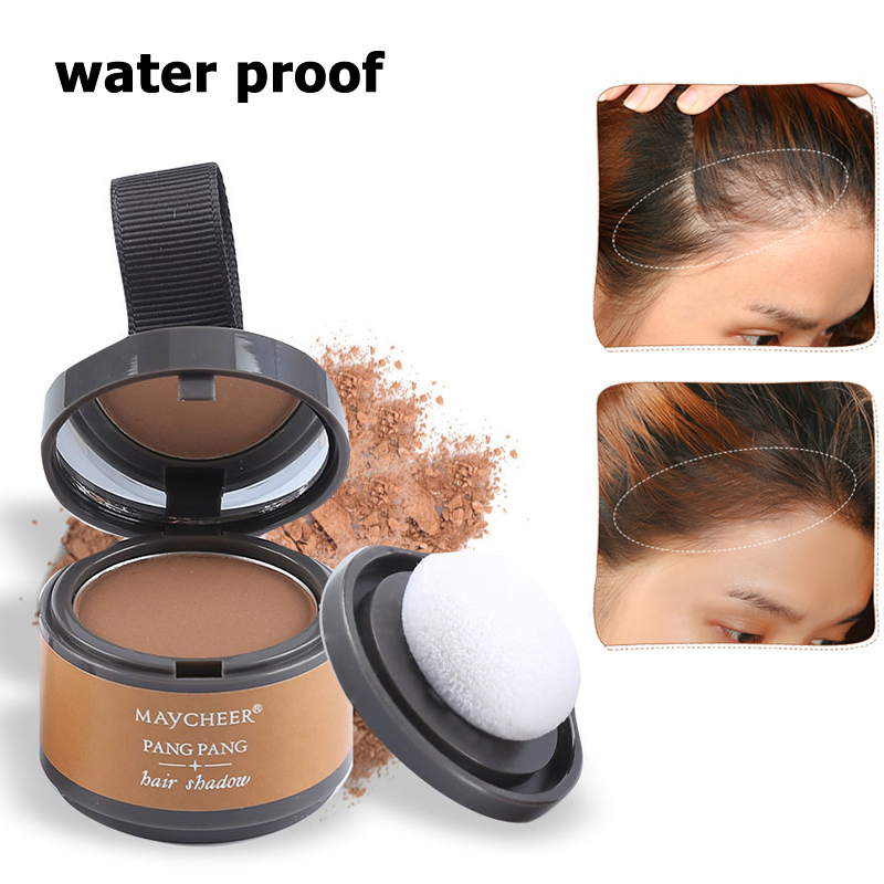 Sale Magical Fluffy Thin Hair Powder Pang Pang Hair Line Shadow Makeup Hair Concealer Root Cover Up Unisex Instant Gray Coverage image