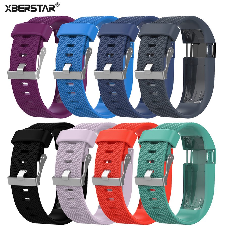 XBERSTAR Band pergelangan tangan Watch Band untuk Fitbit Charge HR Watchbands Wireless Activity Tracker Metal Buckle WristBand New Hot Sales