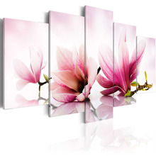 5 Pcs/Set New beautiful flower Wall Art Painting World Map Canvas Printed for Living Room Home Art/PJMT-41