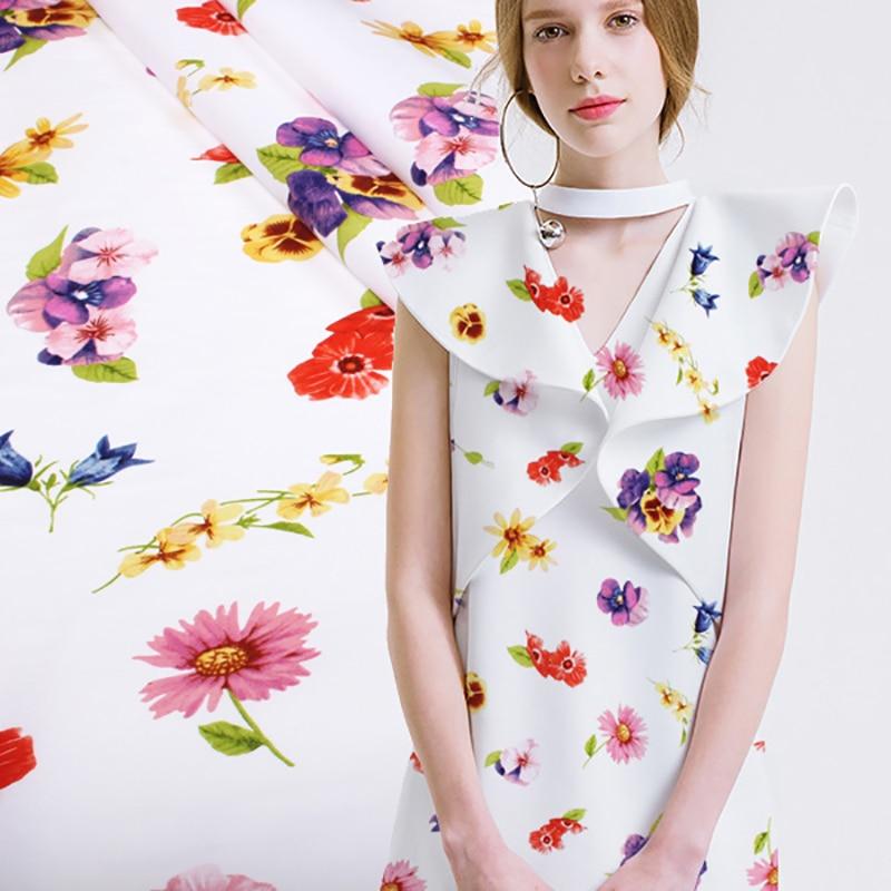Ancho 130cm flores imprimir tela de felpa de algodón puro para la - Artes, artesanía y costura