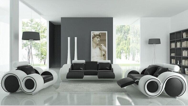 turkish sofa furniture black and white modern l shaped corner shiny ...