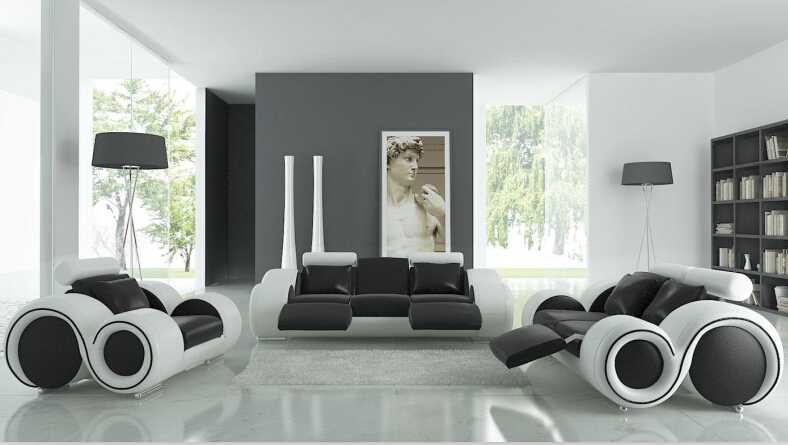 living room sofa font furniture recliner modern contemporary leather with chaise sectional 6103 white bed sleeper