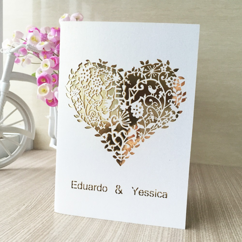 30psc personalized printable laser cut love heart design wedding ...