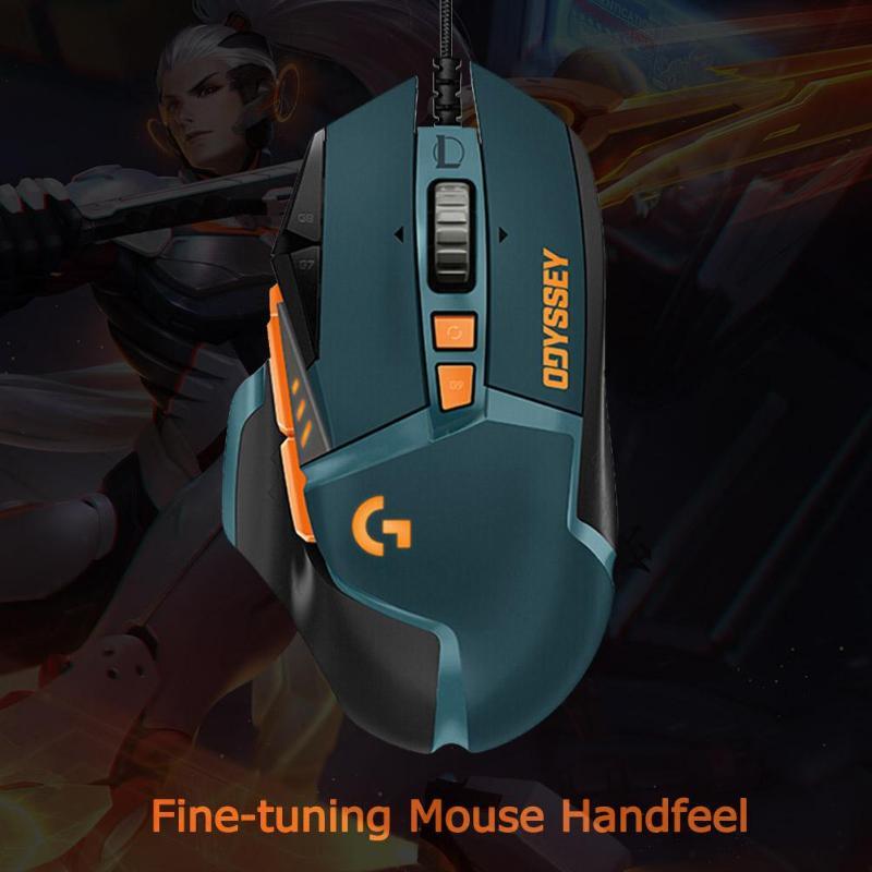 Игровая мышь logitech G502 Hero, 11 кнопок, RGM 16000 dpi, геймерская проводная мышь, регулируемая по весу мышь для PUBG/LOL - 5