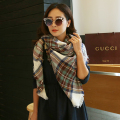 Za Winter Scarf Women Plaid Cashmere Scarf Wrap Luxury Brand Women Scarf Warm Pashmina Shawls and Scarves Long Shawl