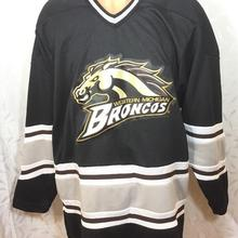 19761a3f9 BONJEAN Rare Vintage 90's Michigan Broncos Hockey Jersey Embroidery Stitched