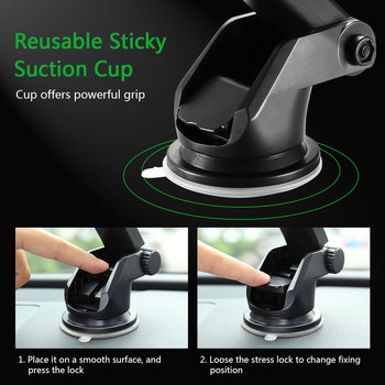 KISSCASE Car Phone Holder For iPhone Adjustable Holder For Phone in Car Windshield Stand Car Mobile Support Smartphone Voiture 4