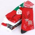 New 2016 Women's Snowflake Deer Printed Cotton Casual Socks Ladies Female Girl Men Christmas Gift Wool Xmas Socks S16