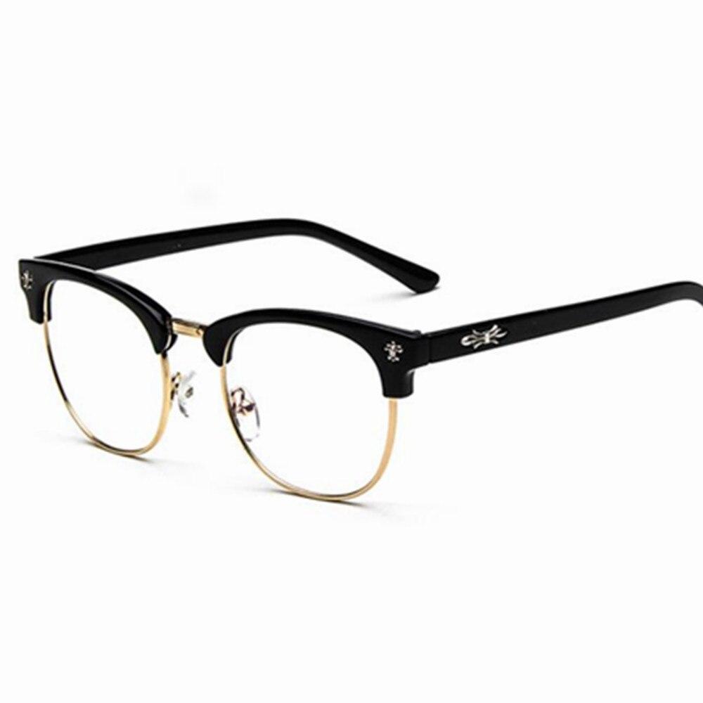 Calidad enmarcan marca hombres mujeres marcos ópticos retro media ...