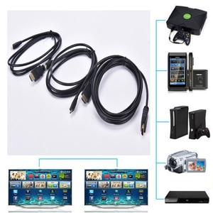 Image 5 - 1.5 متر/1.8 متر/3 متر HDMI ذكر إلى ذكر تمديد كابل HDMI v1.4 ذكر إلى مايكرو HDMI ذكر محول محول كابل الحبل HD 4K 1080P 1 قطعة