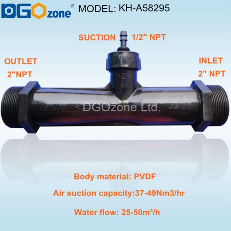 """Ev ve Bahçe'ten CO2 Ekipmanı'de PVDF 2 """"venturi enjektör karıştırıcı Dış Dişli Venturi Tüp Otomatik Inhalasyon Gübre su mikser DGOzone'da  Grup 2"""