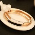 AGOOD 2017 breve de oro brazaletes de la vendimia jewely moda marca diseño h pulsera femme cuff bracelets