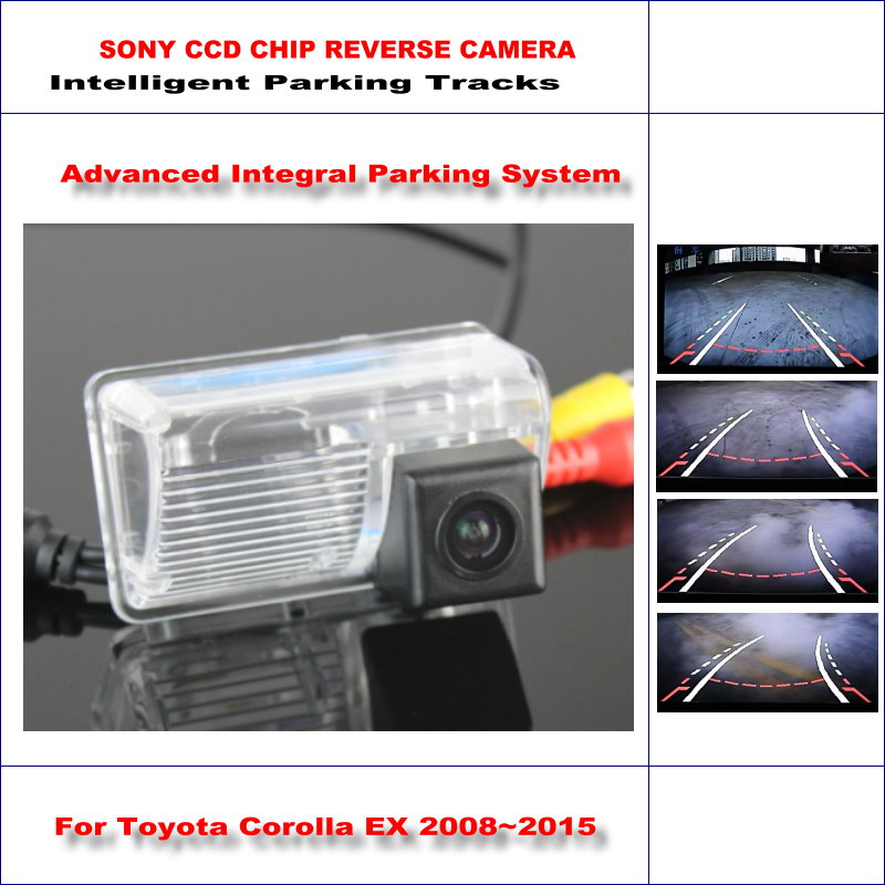 ФОТО 860 Pixels Car Rear Back Up Camera For Toyota Corolla EX 2008~2015 Rearview Parking / 580 TV Lines Dynamic Guidance Tragectory