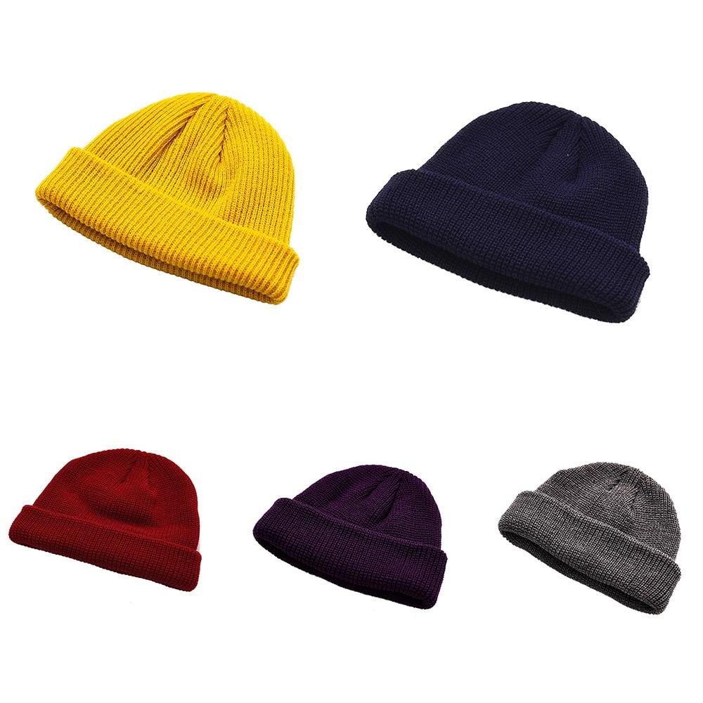 f5495dba5 Brimless Hats Hip Hop Beanie Skullcap Street Knitted Hat Women Men ...