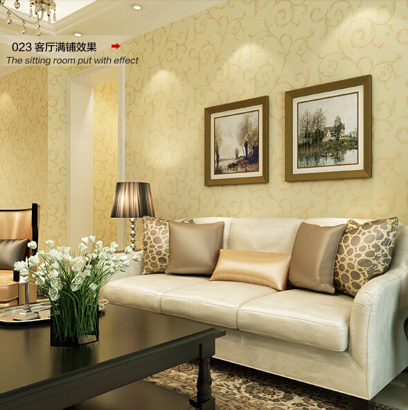 new 2016 Hot selling simple wallpaper continental spread wall paper Non-woven bedroom warm sitting room background wall stickers new non woven wall stickers simple plain coloured stripe wallpaper the sitting room the bedroom wall paper in the background