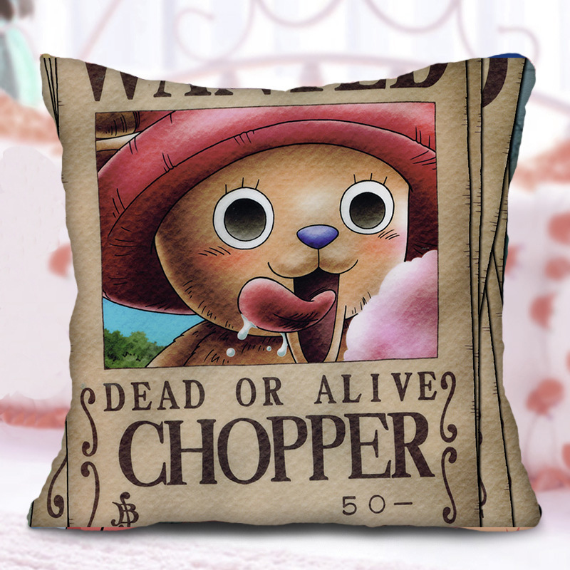 MD Luffy Zoro Trafalgar Law Tony Chopper Printed Bolster Cute Sofa Cushion Pillows Anime Cartoon Figure Printed Bolster Kid Gift