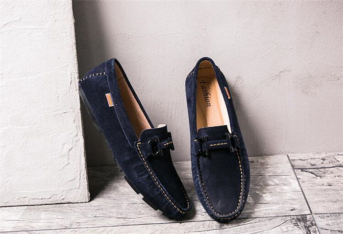 Redonda Real Slip Mocasín Transpirable Suede Toe Hombres Mocasines rojo Flat negro De azul on Metal Los Gommino Casual Zapatos Conducción Beige 8fXw6qPRx