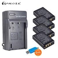 4x 2000mAh bateria BLS50 BLS 5 BLS5 Battery + Charger for Olympus OM D E M10, PEN E PL2, E PL5, E PL6, E PM2, Stylus 1