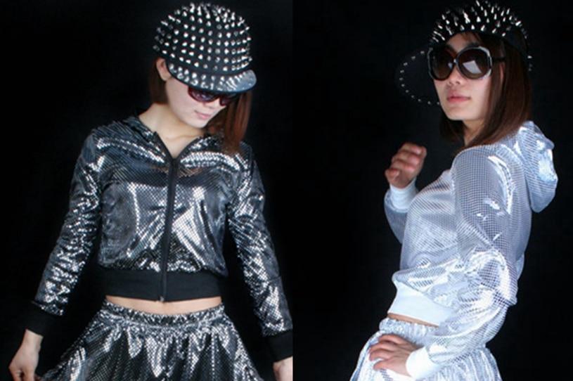 Beste versie, dames glitter lovertjes HipHop uitloper met capuchon - Dameskleding