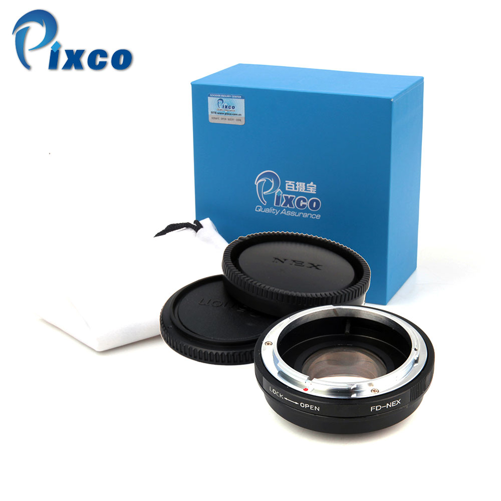 Pixco For FD-NEX Focal Reducer Speed Booster Turbo Adapter Suit For Canon FD Lens to Sony E Mount NEX Camera