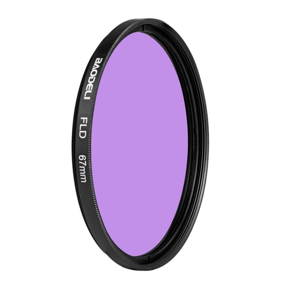 """מוצרי טיפוח ובריאות BAODELI DSLR עדשה Filtro FLD מסנן 49 קונספט 52 55 58 62 67 77 82 72 מ""""מ מ""""מ עבור אביזרים מצלמה Canon Nikon D5300 סוני A6000 (2)"""