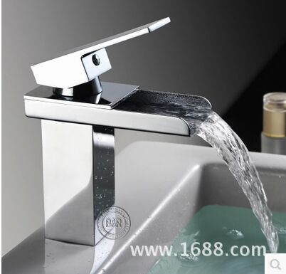 Kitchen faucet basin hot and cold water mouth waterfall faucet square single hole single wash basin