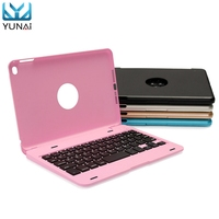 YUNAI Aluminium Ultra Slim Portable Wireless Bluetooth 3 0 Keyboard Case Cover Holder For IPad Mini