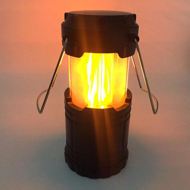 MingRay flamme lanterne AA batterie en plein air romantique lumière en acier poignée camping lampe 5 W LED portable goutte expéditeur pas cher prix