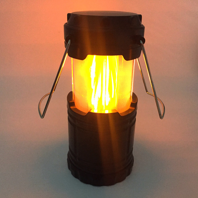 MingRay Flame Lantern AA Battery outdoor Romantic light steel handle camping lamp 5 W LED portable drop shipper cheap price