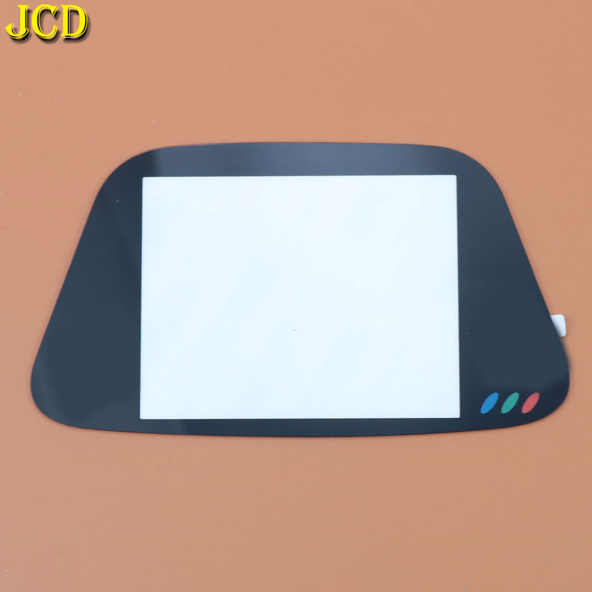 JCD 1PCS Black Glass Screen Lens Protective Cover For Sega Game Gear Replacement Screen Protector GG Lens